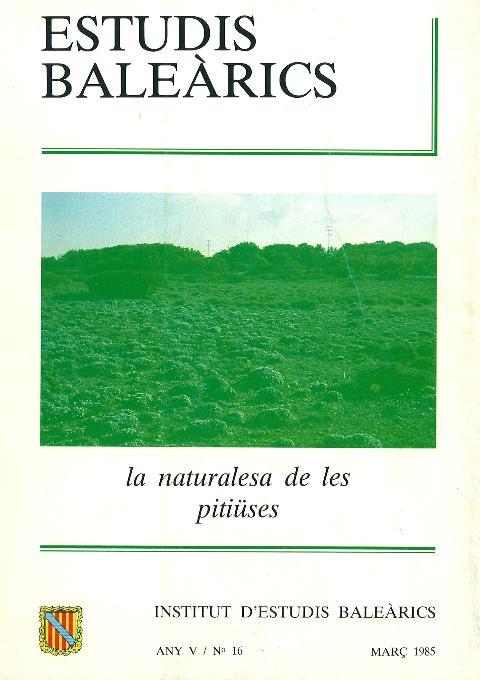 Estudis Baleàrics, núm. 16. La naturalesa de les Pitiüses