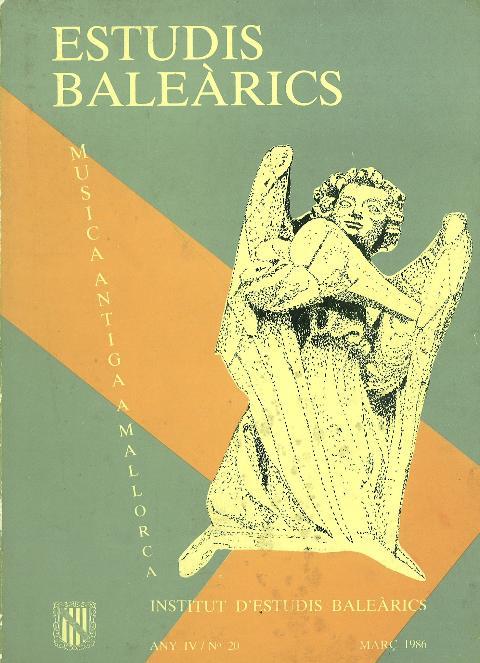 Estudis Baleàrics, núm. 20. Música antiga a Mallorca
