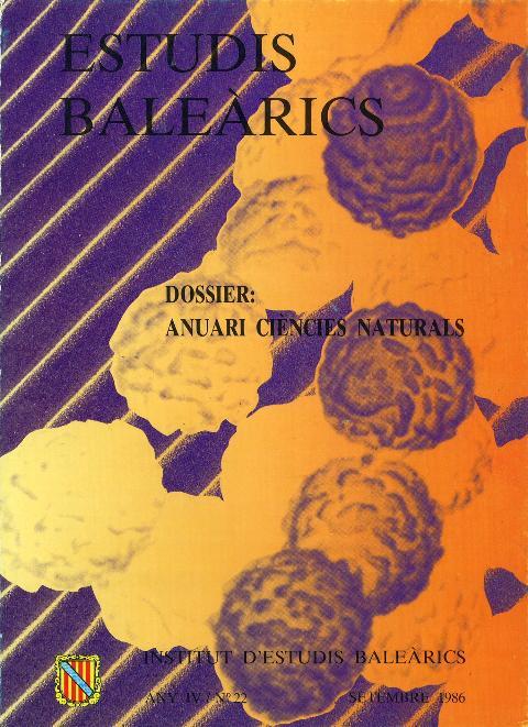 Estudis Baleàrics, núm. 22. Anuari ciències naturals