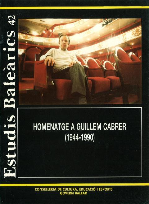 Estudis Baleàrics, núm. 42. Homenatge a Guillem Cabrer (1944-1990)