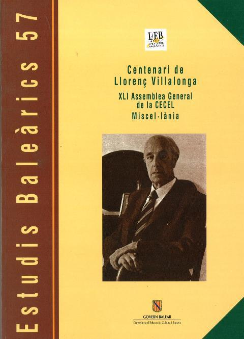 Estudis Baleàrics, núm. 57. Centenari de Llorenç Villalonga
