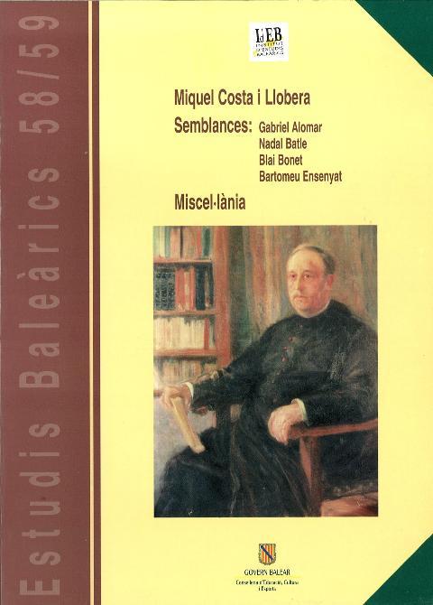 Estudis Baleàrics, núm. 58/59. Miquel Costa i Llobera
