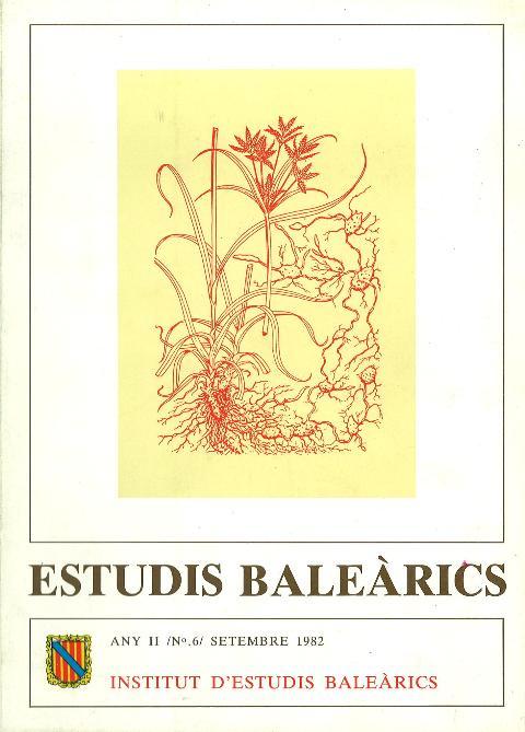 Estudis Baleàrics, núm. 6