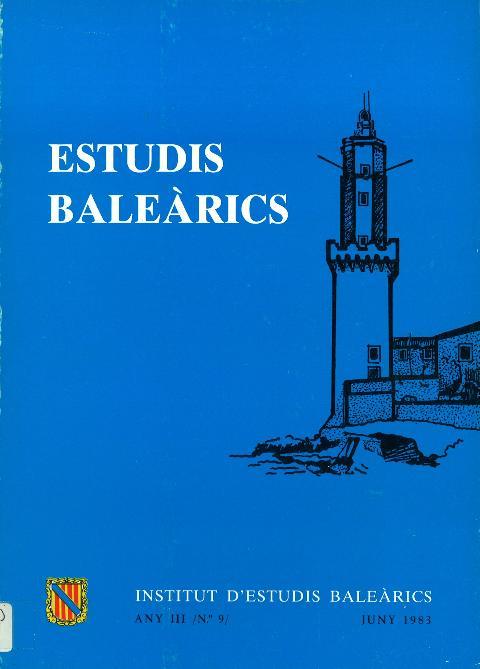 Estudis Baleàrics, núm. 9
